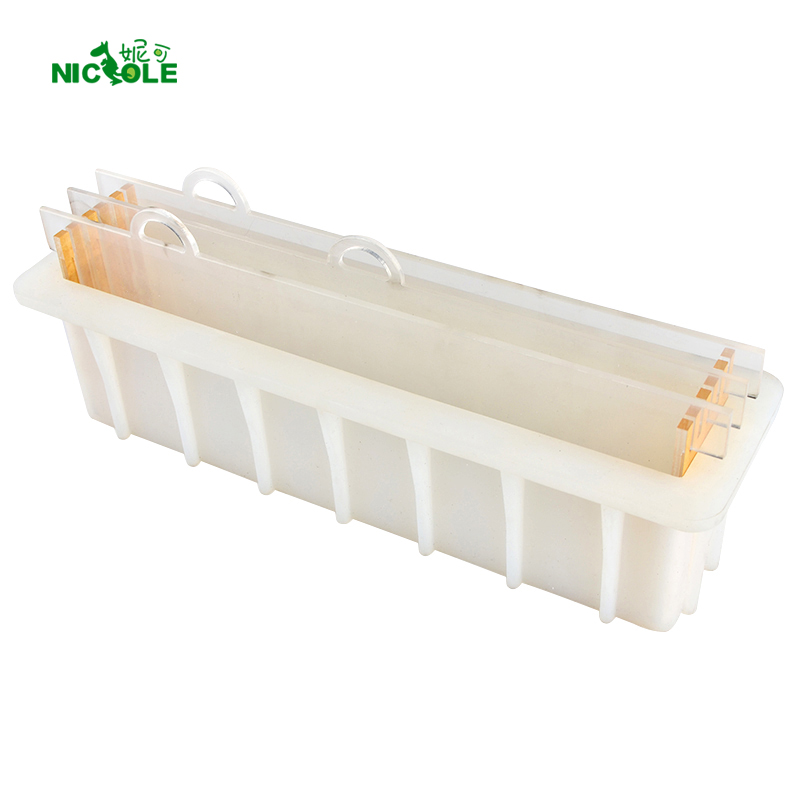 Nicole Silicone Mold Swirl Render Soap Making Mould with Transparent Vertical Acrylic Clapboard DIY