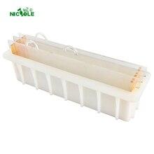 Swirl savon en Silicone, moule pour fabrication de savon, avec clapet en acrylique Vertical Transparent