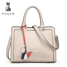 FOXER2016 new high quality luxury fashion Shoulder Messenger bag counter genuine leather handbag women famous brands