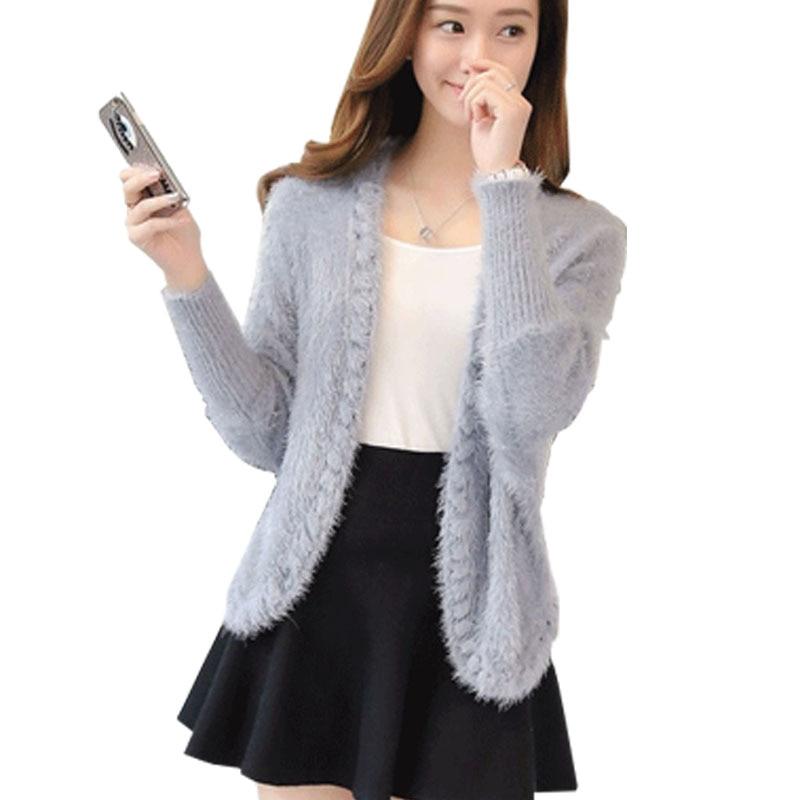 2017 Hitz Mohair short sweater cardigan sweater coat outside female shawl autumn dress