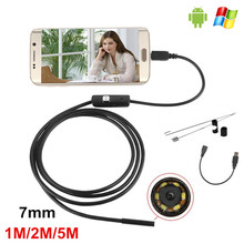 1M/2M/5M 7mm USB Endoscope Android OTG Phone Endoscopio Mini Endoscope Camera Waterproof Inspection Camera For Sumsung Galaxy S6