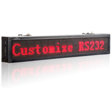 P4.75 Ultra Brightness Red color Led Display Board Program By Keypad RS232 port Remote Controller to Display Designated Message