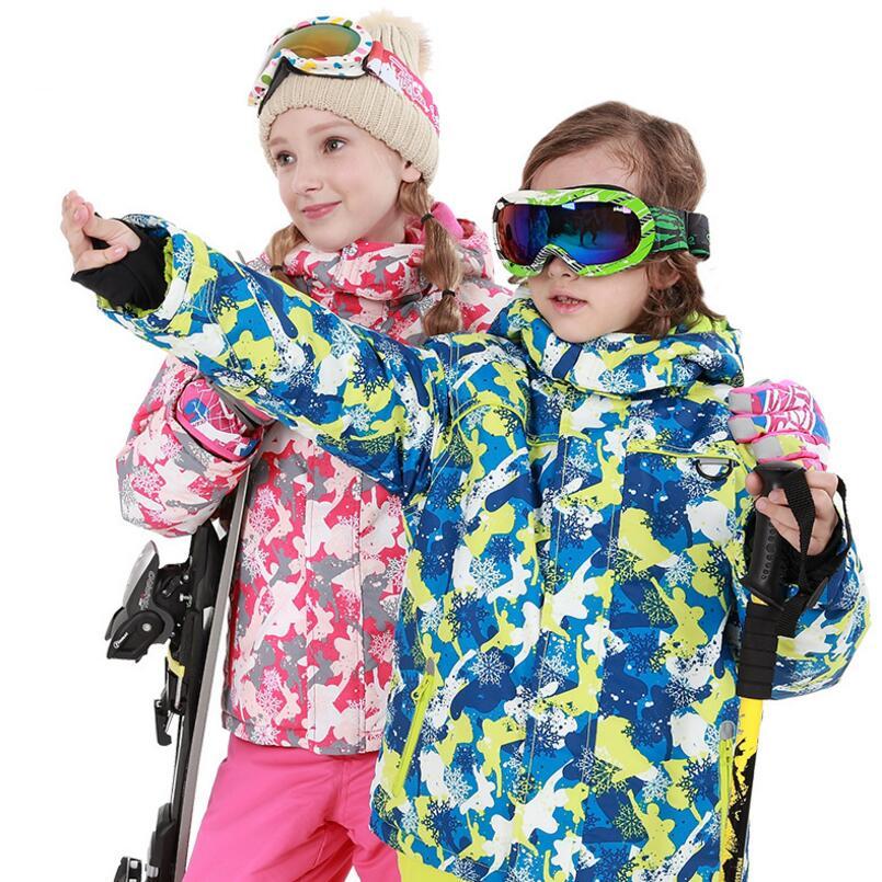 35 градусов русская зима Детская куртка на пуху Штаны ветрозащитный водонепроницаемый для мальчиков и девочек зимние лыжный костюм утеплен