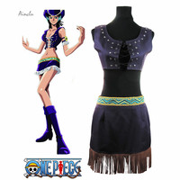 Ainclu Free Shipping One Piece Nico Robin Two Years Ago Summer Dress Adult Kid Cosplay Halloween
