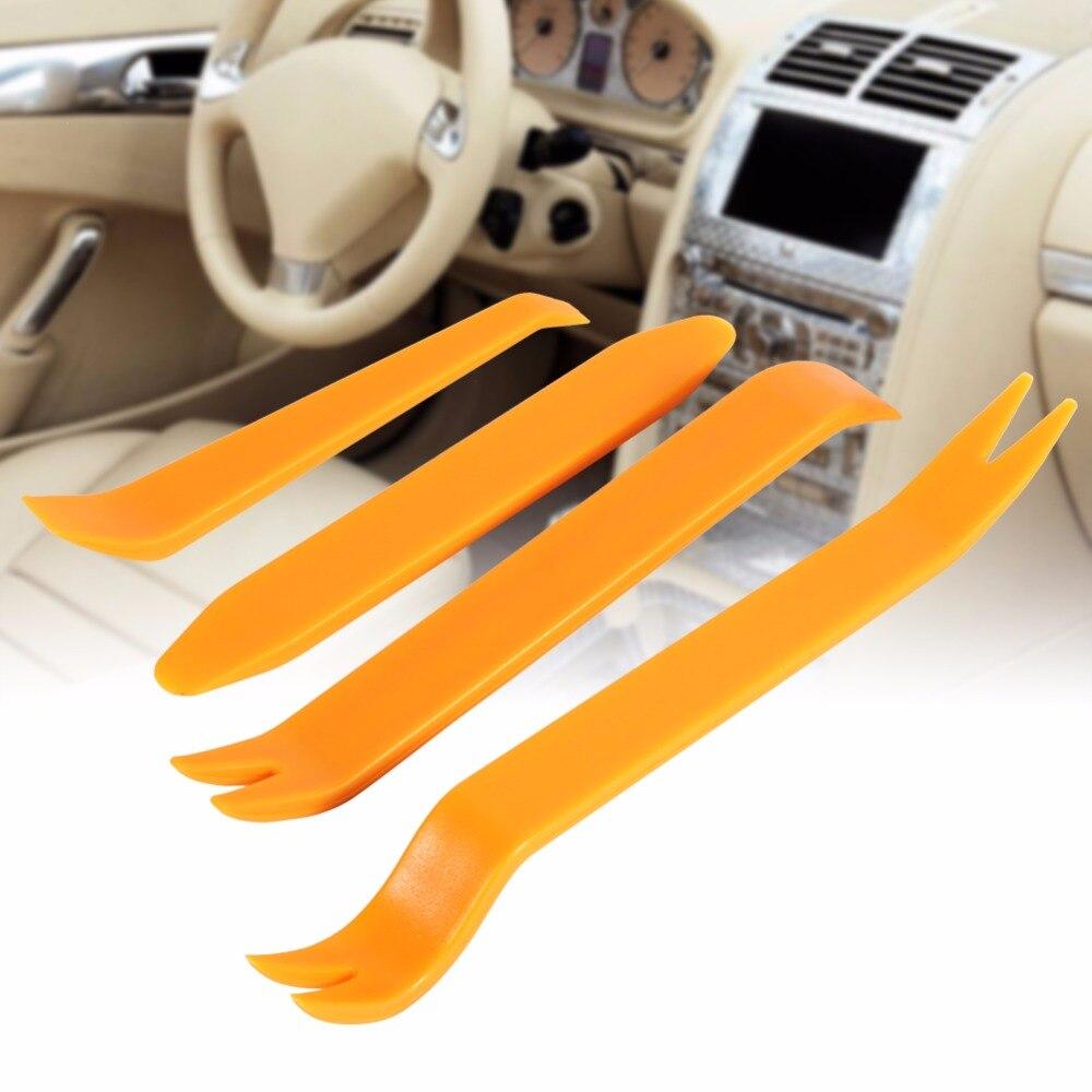 4pcs Car Plastic Trim Panel Dash Installation Removal Pry Kit Set Diagnostic Tool Repairing car dvd player stereo refit tool kit 4pcs car door tools interior plastic trim panel dashboard installation removal pry