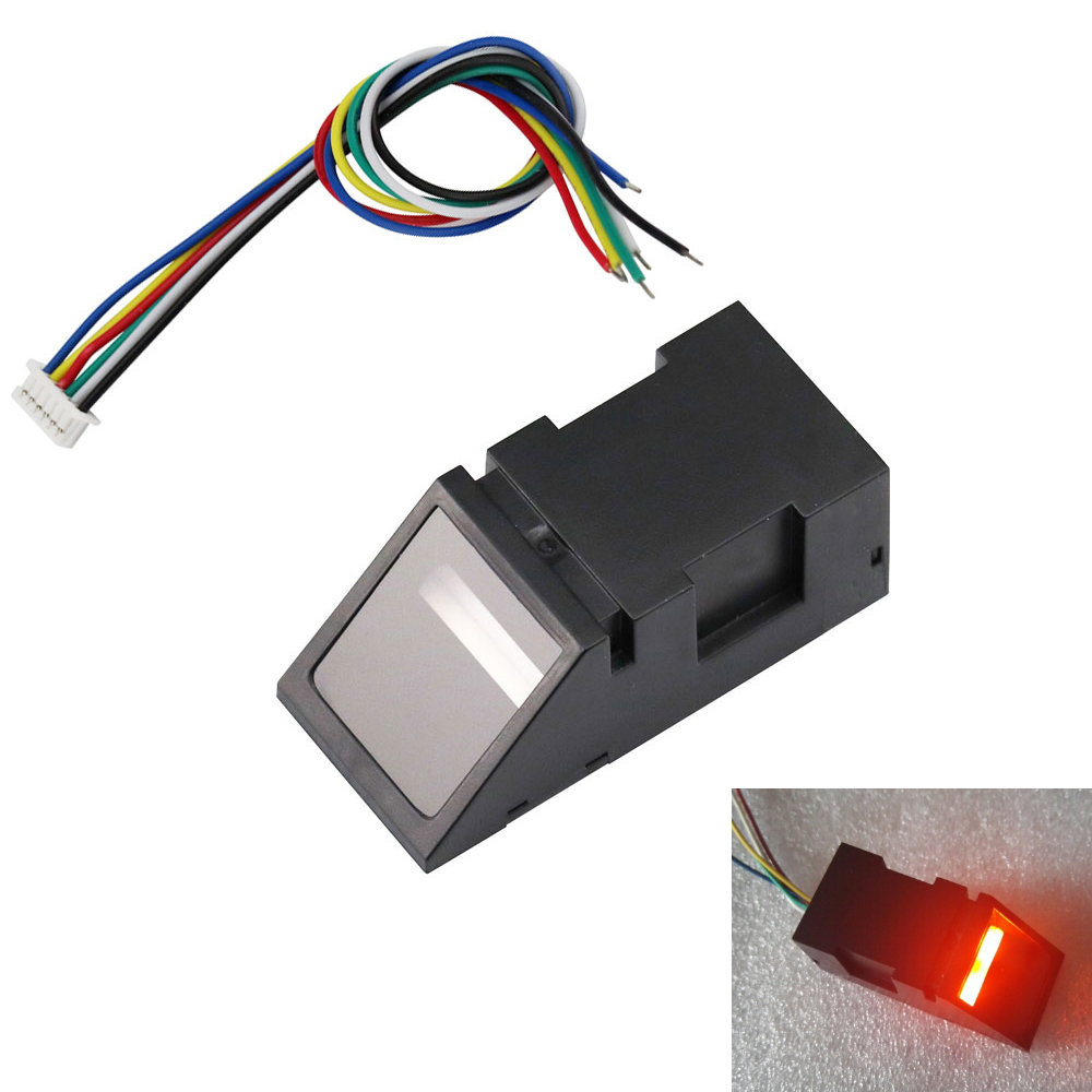 Aihasd Red Light Optical Fingerprint Reader Sensor Módulo para Arduino UNO Mega2560 R3 51 AVR STM32 DC3.8-7V