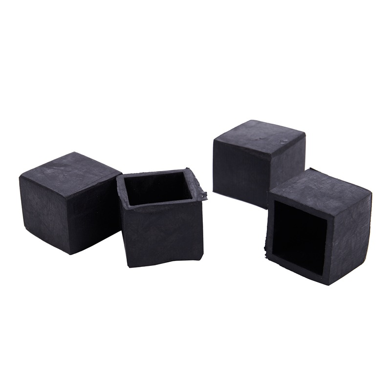 4pcs 25x25mm Square Floor Protector Table Chair Foot Leg End Tip Pad