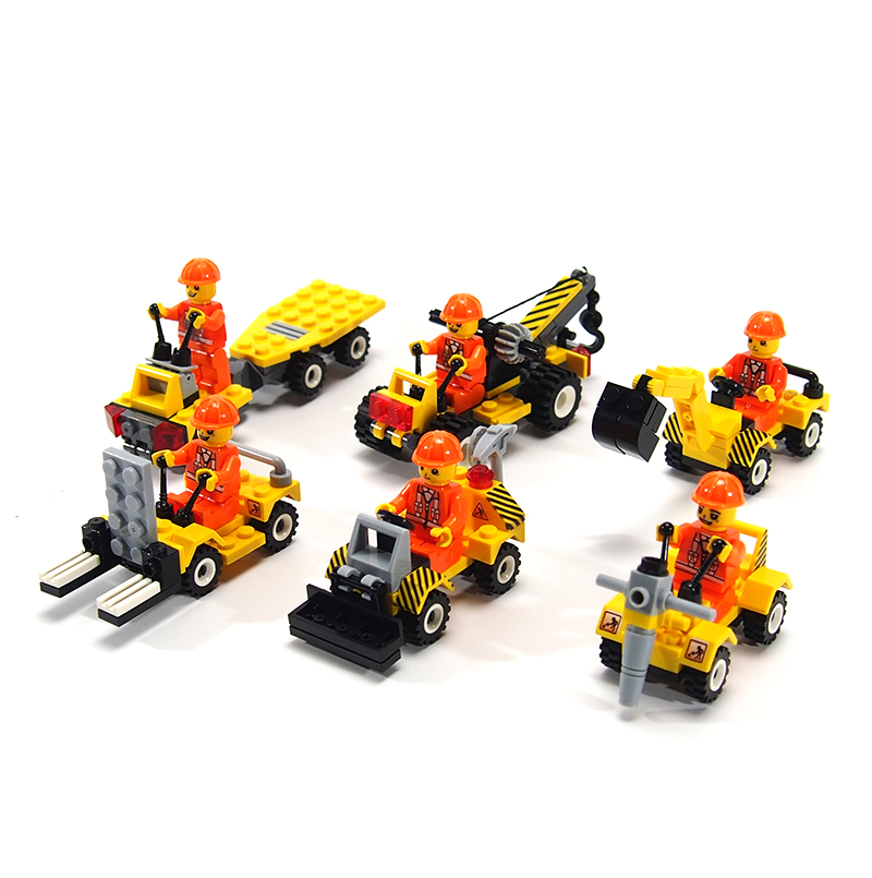 City Police Minifigures Building Blocks Fire Car Military Bricks Engineering vehicles Model Building with Legoe City Kids Toys