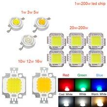 Высокая мощность 1 Вт 3 Вт 5 Вт 10 Вт 20 Вт 30 Вт 50 Вт 100 Вт COB светодиодный натуральный белый 4000 K-4500 K для DIY светодиодный прожектор