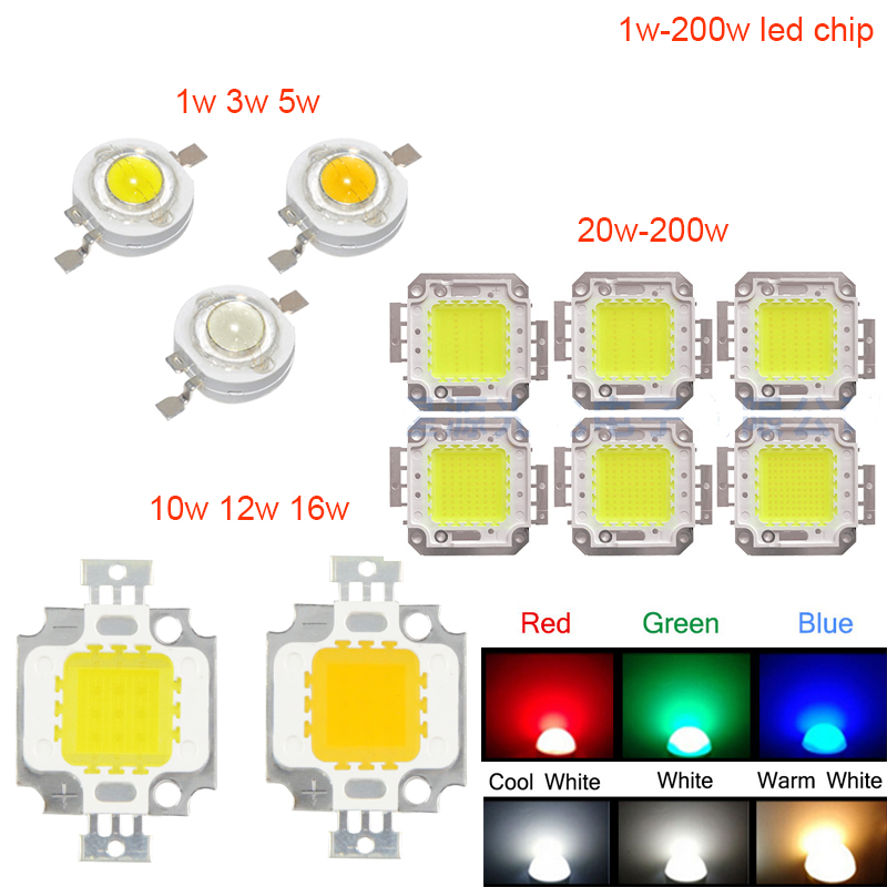 High Power 1 W 3 W 5 W 10 W 20 W 30 W 50 W 100 W COB LED ธรรมชาติสีขาว 4000 K - 4500 K สำหรับ DIY LED Floodlight Spotlight