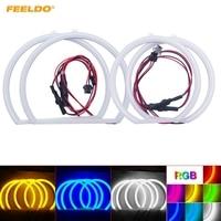 FEELDO 1Set Auto Halo Rings Cotton Lights SMD LED Angel Eyes for BMW E53/X5 (99 04) Car Styling #AM3137