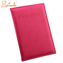 ZS 2015 Hot Women & Men Fashion Leather Travel Passport Holder Cover ID Card Bag Passport Wallet Protective Sleeve