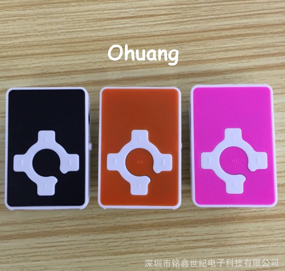Wholesale 10 Pcs Quality Clip Cross2 Mini MP3 Music Player With TF Card Slot
