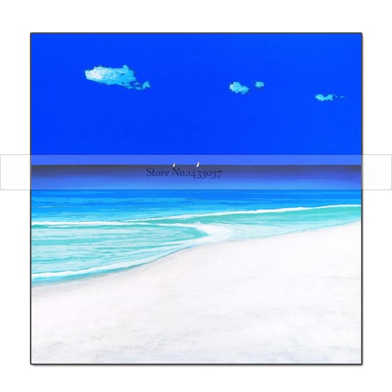 Ručně malované olejomalba Krajina Nástěnné malby Krásné pláže moře Nástěnné umění Obrázek pro obývací pokoj Jednoduchý domácí dekor Paintin