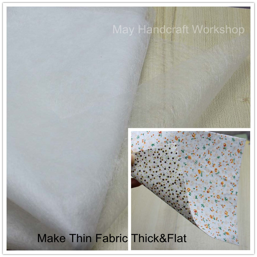 Make Fabric Thick Flat Easy Iron On Sewing Lining Fabric Join Patchwork Interlining Double-Sided Adhesive Fabric Accessories