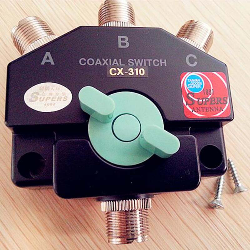 Brand New CX-310 Heavy Duty Wideband Coax Switch 3 Port Antenna Repeater M-J Manual Aerial Short-wave Base Adapter