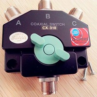 Novo CX 310 resistente wideband coaxial interruptor 3 porta antena repetidor M J manual antena de ondas curtas adaptador base Adaptadores AC/DC     -