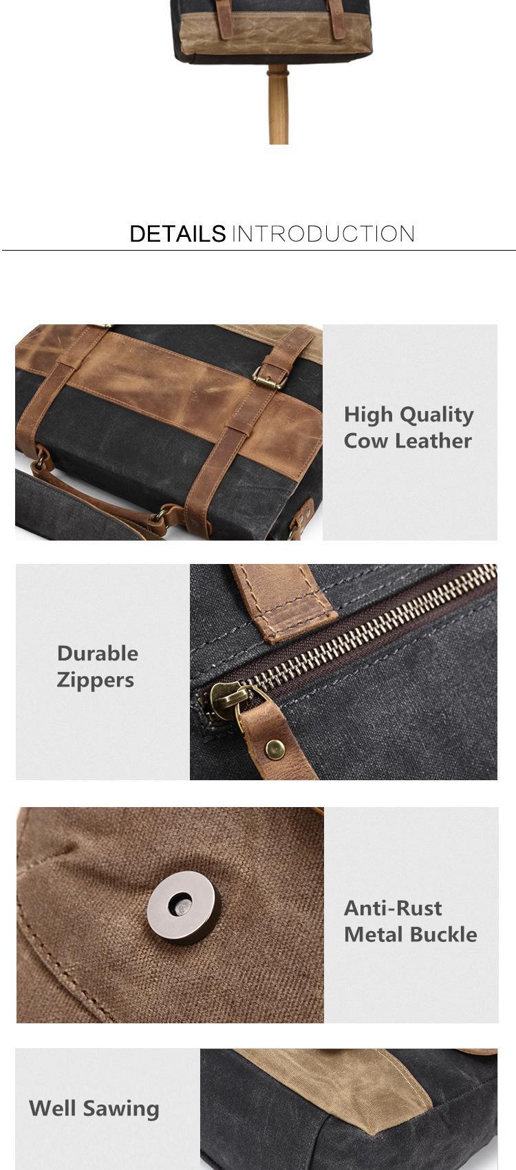 eiken briefcase for men black variant