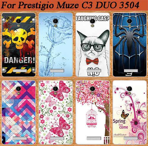 Para Prestigio Muze C3 PSP3504 DUO proteger la cubierta pintura varios colorido patrón de Prestigio MUZE C3 3504 Duo cubierta