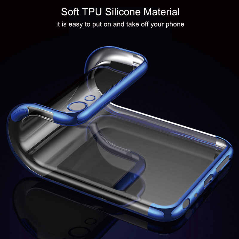 CHOEOIWE Transparent Cover for OPPO A83 F5 F7 A73 A57 A59 A79 Plating Soft  Case Covers for OPPO F7 A73 Slim Silicone Shell Coque