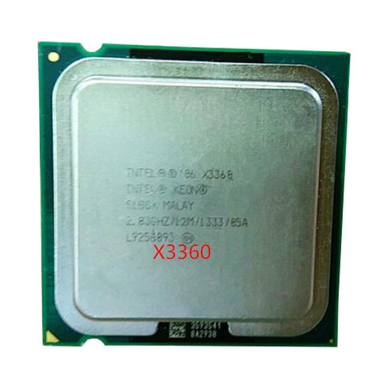 INTEL Xeon Quad Core X3360 cpu (2.833 GHz/12 M Cache FSB/1333) ainda tem a venda Intel X3360 LGA775 CPU