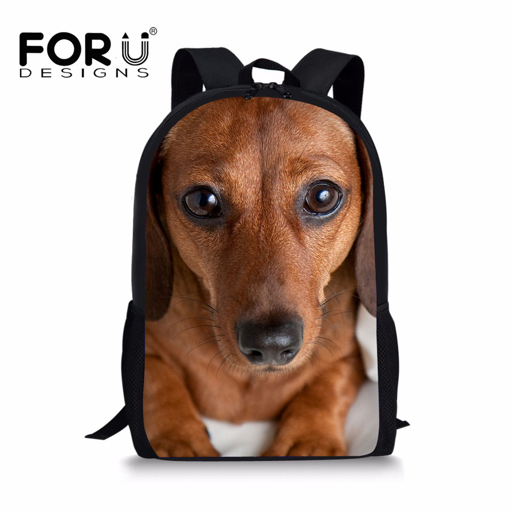 FORUDESIGNS Dachshund Dog Printed Children School Bags Girls Primary Schoolbags Kids Bookbag Animal Backpack Orthopedic Mochila
