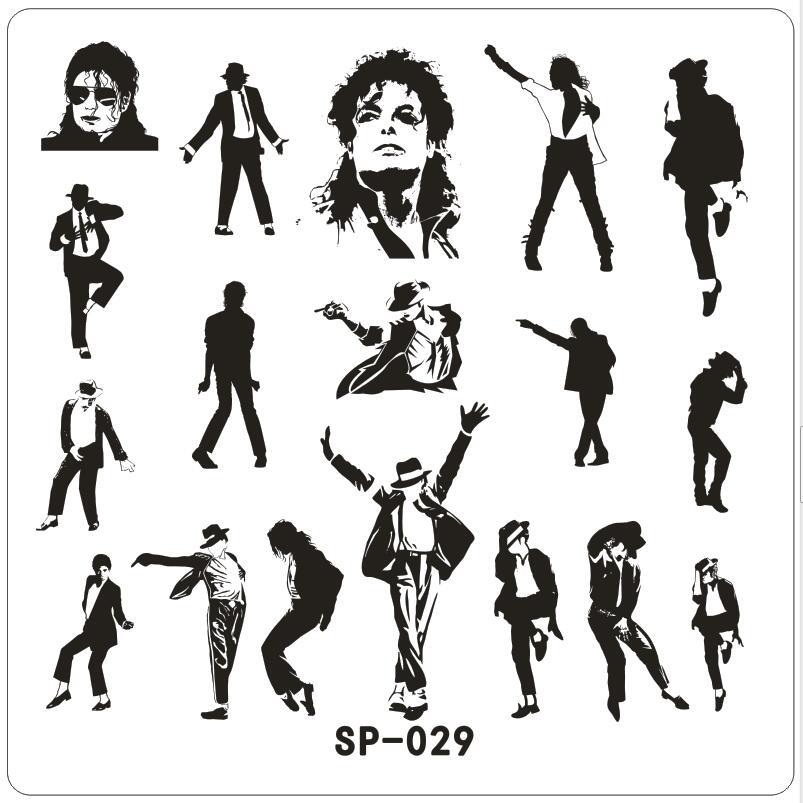 Michael Bigger Dancer New Stamping Nail Art Kit Template Image Plate