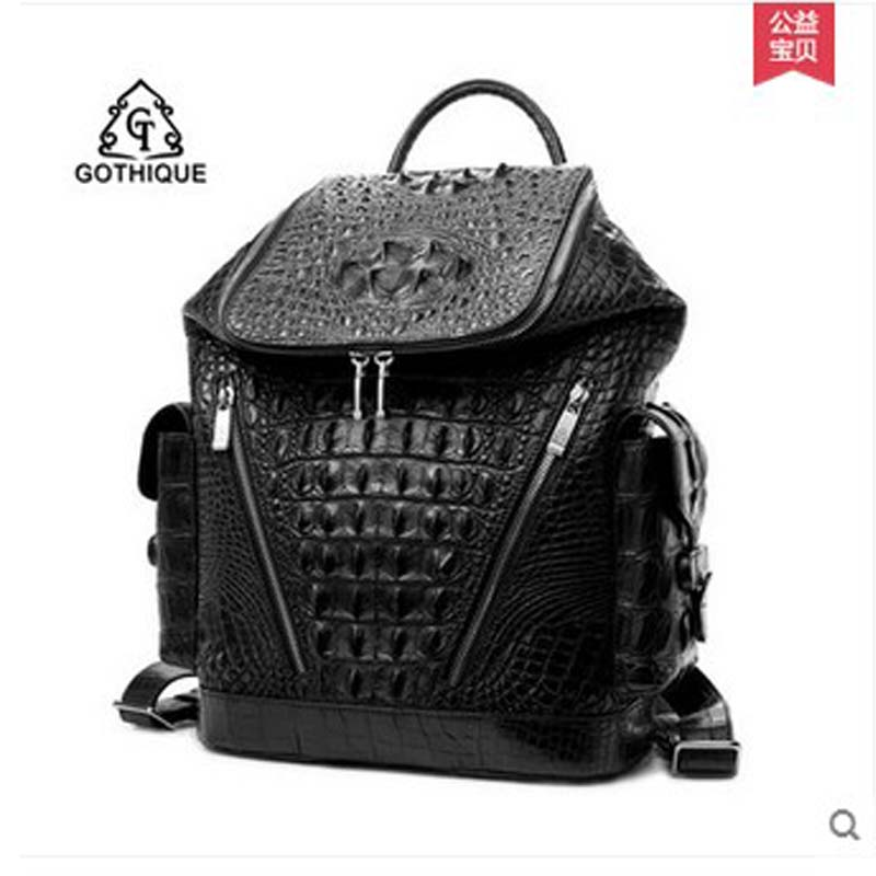 gete 2018 new hot free shipping crocodile leather business men bag  large capacity men backpack men fashion leisure male bag hot pgm golf clothes pack men s double shoes bag extra large capacity bag pack portable clothes shoes handbag free shipping