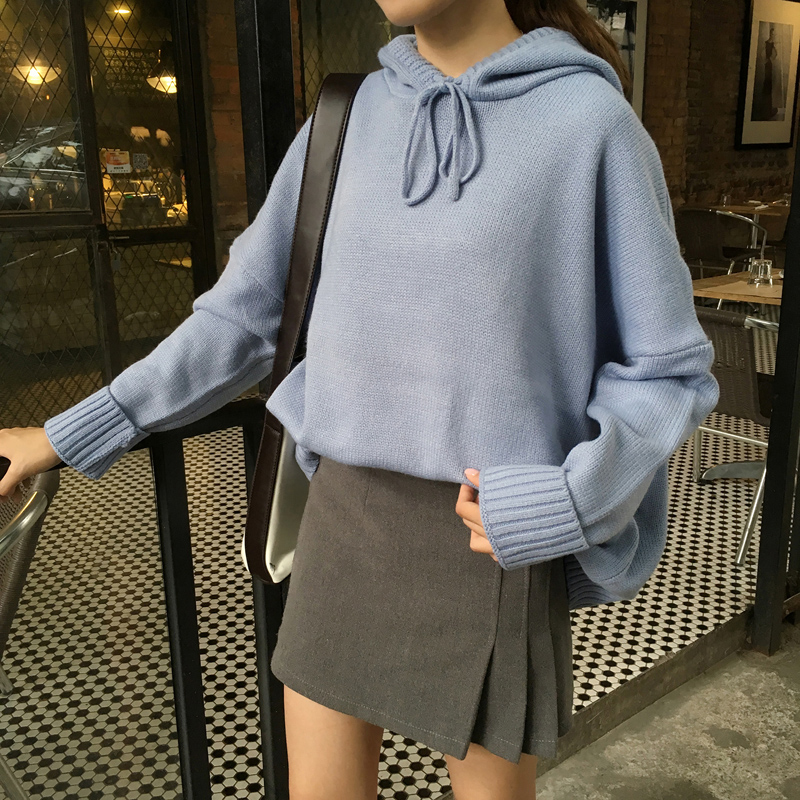 61e3004ff9 4 colors 2017 autumn and winter solid color korean style sweaters womens  sweaters and pullovers with hood (B0961)-in Pullovers from Women s Clothing  on ...