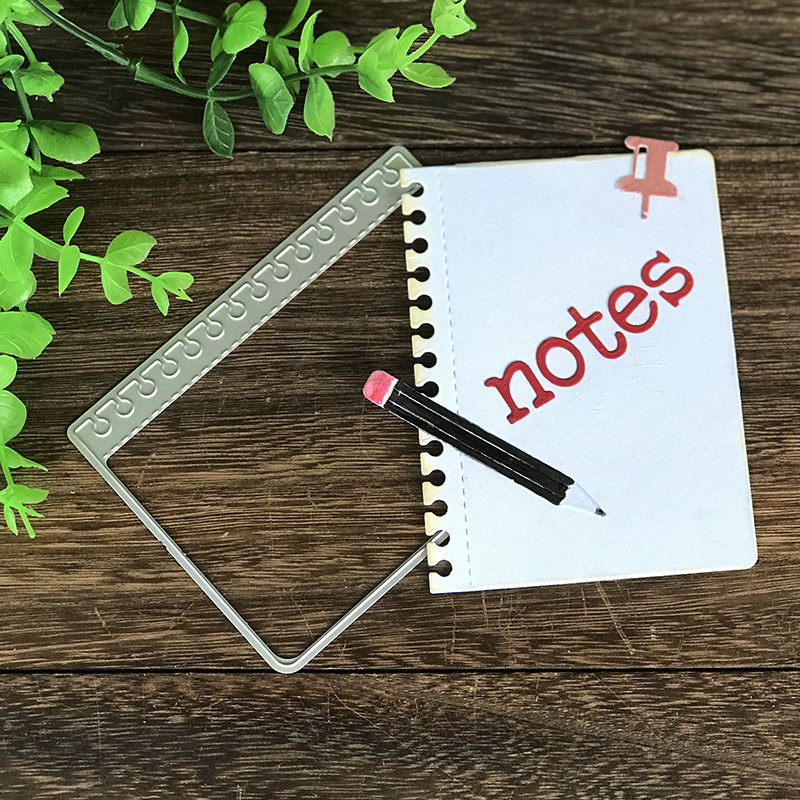 Notebook Notes Pencil Metal Cutting Dies for Scrapbooking DIY Album Embossing Folder Paper Card Maker Template Decor Stencils in Cutting Dies from Home Garden
