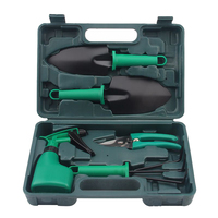 5Pcs/set Garden Hand Tool Set Shovel Rake Clippers Household Multifunctiona Kit with Case @LS OC10