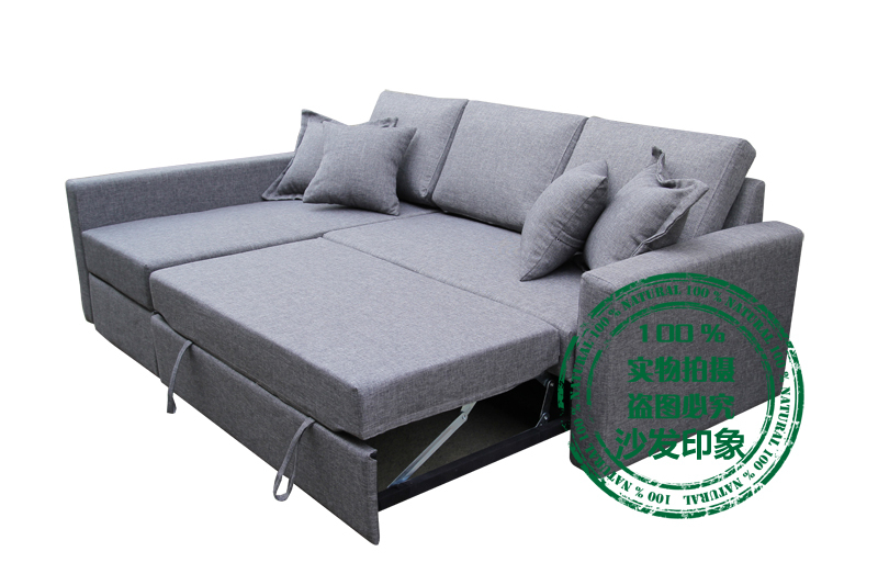 Small apartment corner sofa bed should parents multifunction armrest ...