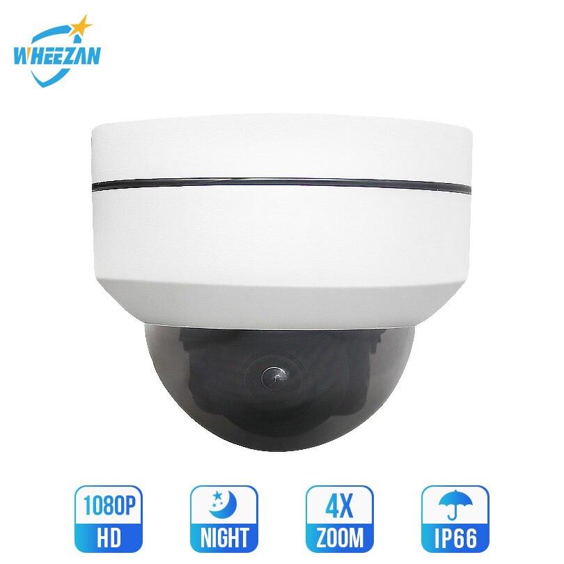 Wheezan ptz ip camera poe Outdoor Onvif Starlight Speed Dome home security camera 1080P 4X Zoom Night Vision ip cctv camera