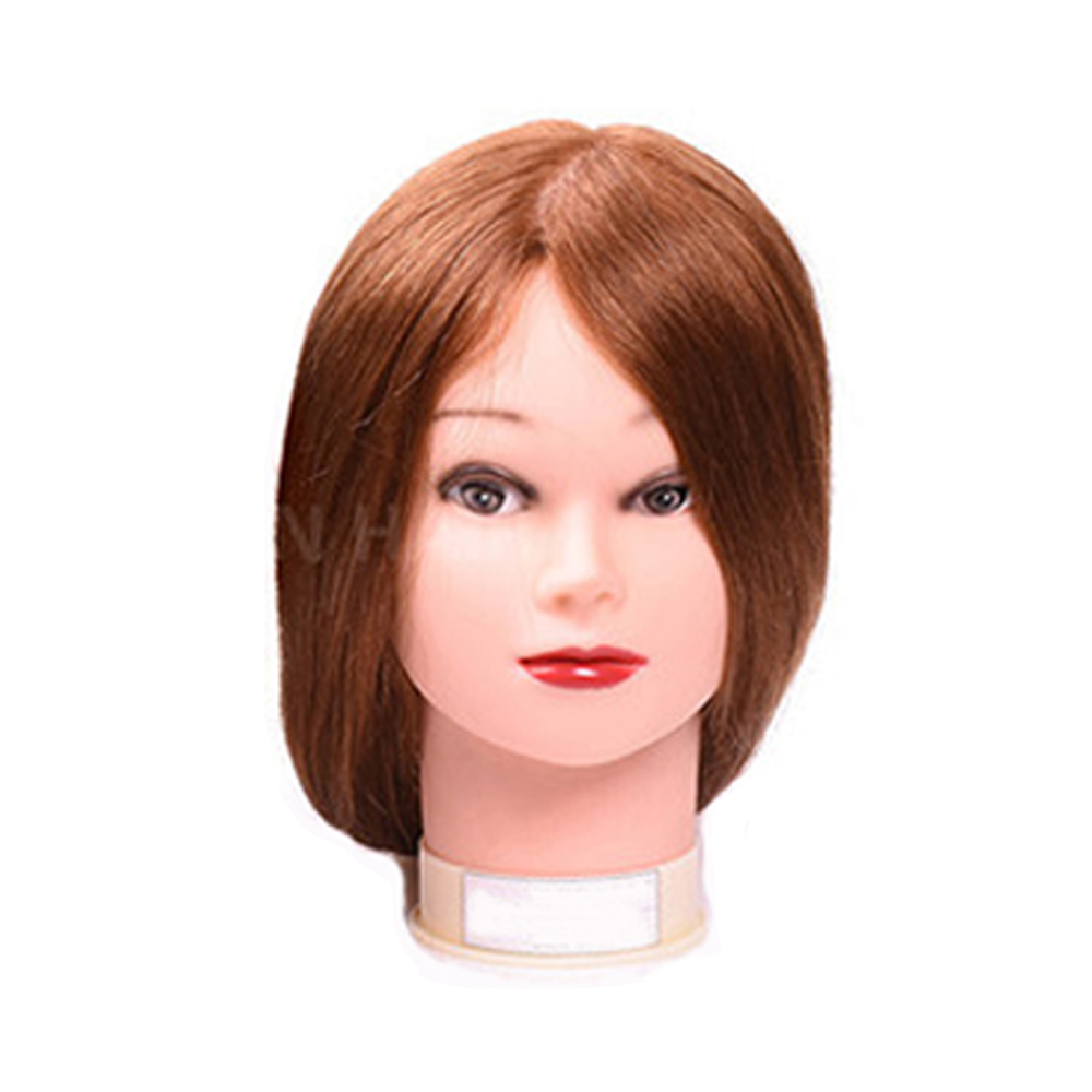 Profession Mannequin Head With 22inch 70% Human Hair Cosmetology Mannequin Manikin Training Head Model