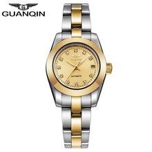 2016 Nueva GUANQIN Marca de Lujo Reloj de Las Mujeres Reloj Mecánico Automático Impermeable de Diamantes de Oro Relojes de Las Mujeres relogio feminino