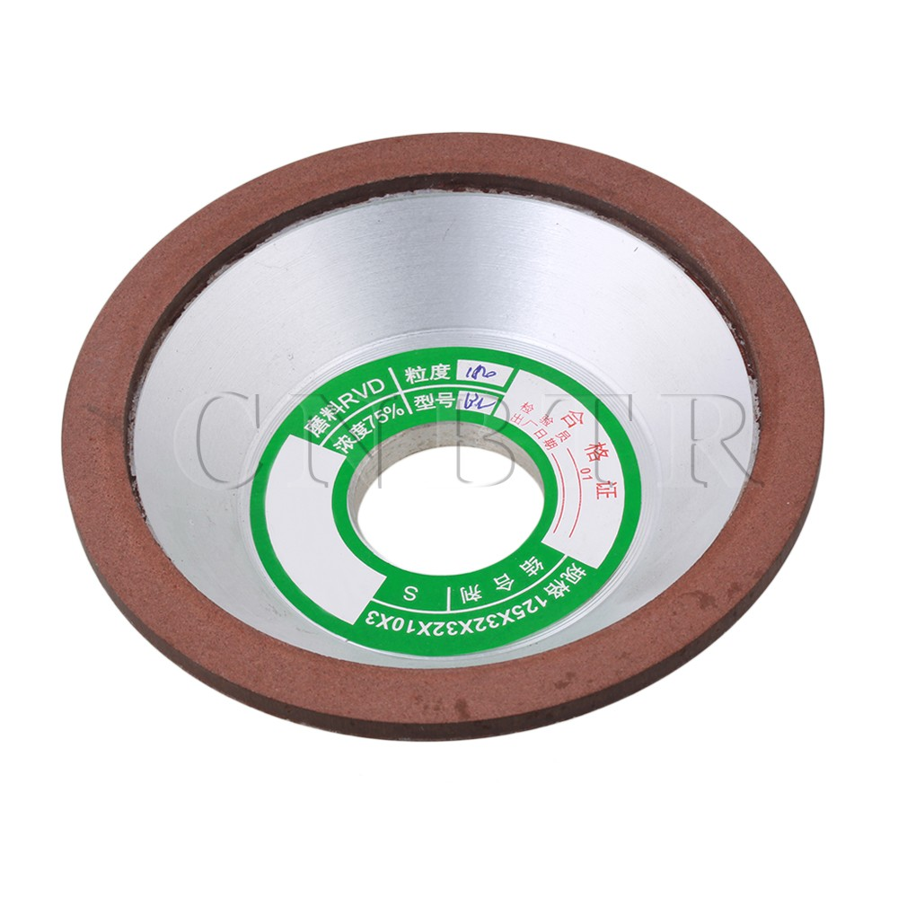 CNBTR 125mm Diamond Grinding Wheel Grit 180 Grind Carbide Bowl-Shape  цены
