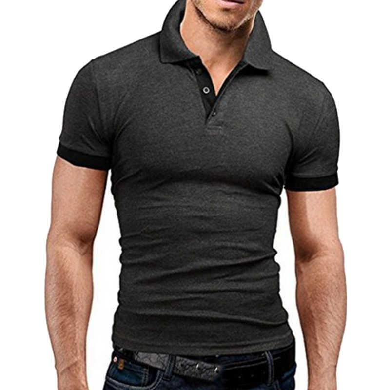 Dimusi Polo Pria Kemeja Musim Panas Pria Kasual Lengan Pendek Katun Kaos Polos Tee Atasan Fesyen untuk Hombre Merek Pakaian 5XL, YA799