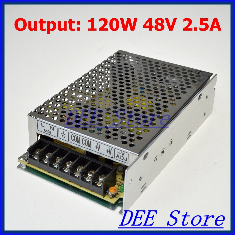Small Volume Led driver 120W 48V 2.5A Single Output  Adjustable Switching power supply for LED Strip light  AC-DC Converter 90w led driver dc40v 2 7a high power led driver for flood light street light ip65 constant current drive power supply