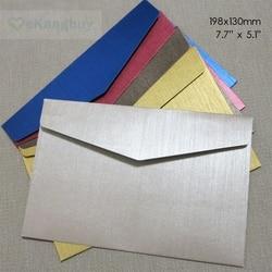 50 pcs 198x130mm (7.7 x 5.1) em relevo o Papel da Especialidade Envelope Envelopes Do Convite Do Casamento Negócios