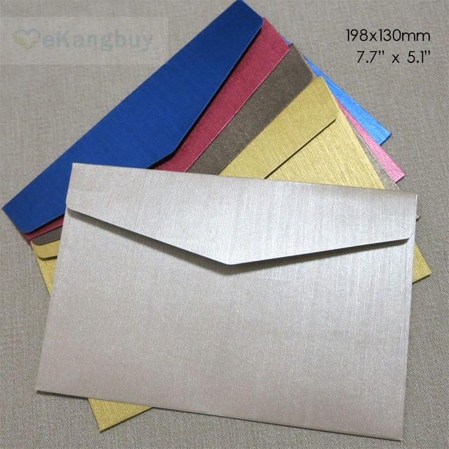 50pcs 198x130mm 7 7 x 5 1 embossed specialty paper envelope