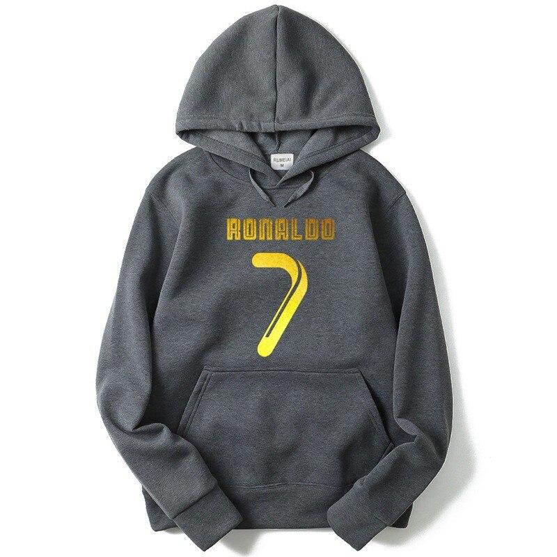 2018 Neue Hoodie Hip Hop Streetwear Ronaldo No. 7 Mit Kapuze Hoody Herren Pullover Und Sweatshirts 5 Farbe Mit Dem Besten Service