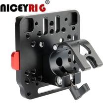 NICEYRIG Batterij Plaat V Lock Montage Kit Kaas Plaat Camera Video Rig Quick Release Plaat Base V Lock Camera rig Aluminium
