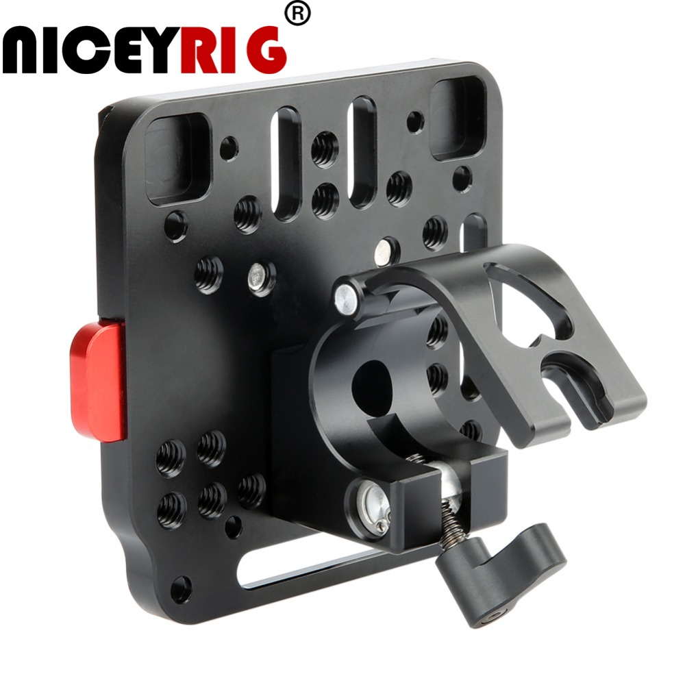 NICEYRIG V-Lock Assembly Plate DSLR Camera Quick Plate Mount QR Rod Clamp for DJI Ronin M MX MOZA Gimbal Stabilizer цена