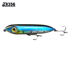K8356 9.5cm 14g Pencil Fishing Lures ABS Artificial Bait 3D Eye Treble Hook Topwater Floating Wobbler Minnow Hard Fishing Tackle