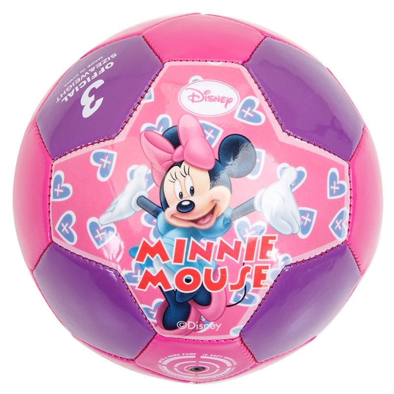Indoor and Outdoor Toys Disney Minnie No. 3 Kindergarten Children PVC Sewing Soccer fun interactive toys