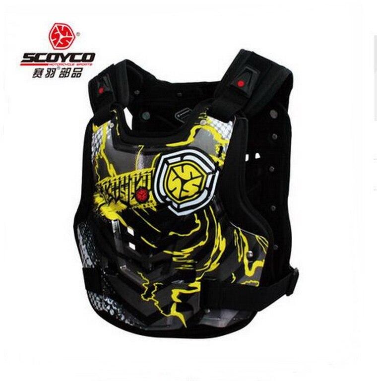 2018 SCOYCO haute qualité moto armure moto armures poitrine dos soutien équitation Motocross dispositif de protection taille M L XL