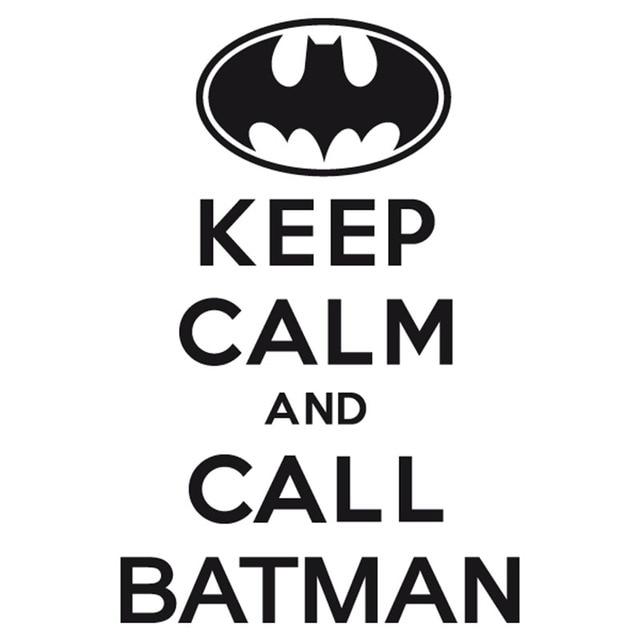 9 7x14 8cm keep calm and call batman interesting vinyl decal car sticker black