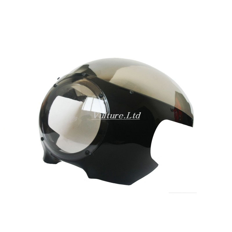 5 3/4 Cafe Racer Headlight Fairing Windscreen For Harley Sportster 883 1200 XL Dyna 39mm Forks New red 5 3 4 motor vehicle headlight fairing bezel mask front visor cowl cover for harley cafe racer sportster dyna xl 883 3757