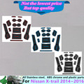 Para N1ssan x-trail xtrail 2014 2015 2016 coche Puerta Ranura Ranura de Almacenamiento Apoyabrazos alfombrillas de Goma antideslizantes interior puerta pad/taza 15 unids