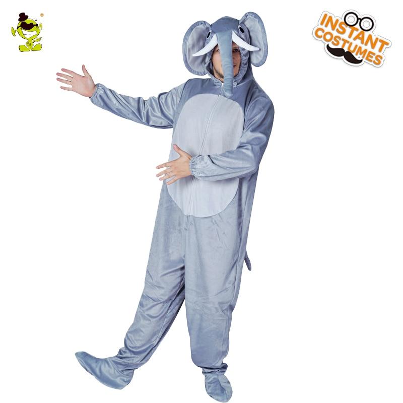 Adults Men Elephant Pajamas Costume Comfortable Sleepwear In Winter Animal Onesize Pajamas In Christmas Cosplay Men Elephant